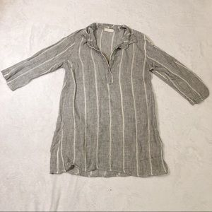 CP Shades   100% Linen Tunic Top S